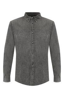 Джинсовая рубашка с воротником button down Givenchy