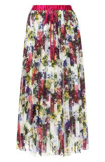 Плиссированная юбка-миди с принтом Dolce & Gabbana