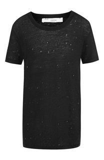 Льняная футболка с декоративными разрезами Iro
