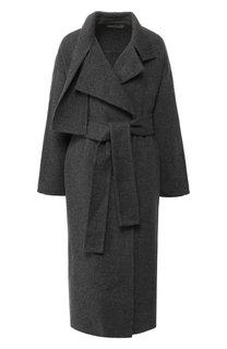 Шерстяное пальто с поясом Vince