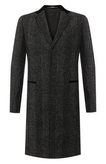Однобортное пальто из смеси шерсти и вискозы Givenchy