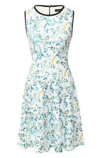 Приталенное платье с принтом DKNY