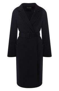 Кашемировое пальто с поясом Emporio Armani