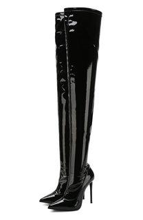 Кожаные ботфорты на шпильке Le Silla