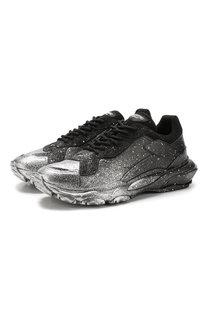 Кожаные кроссовки на шнуровке Valentino