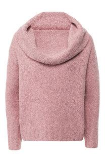 Шерстяной пуловер с объемным воротником Vince