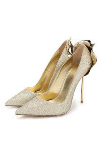 Туфли Petalo с глиттером на шпильке Le Silla