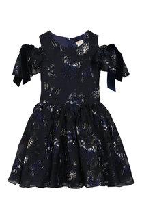 Жаккардовое платье с бантами David Charles