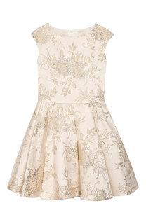 Жаккардовое платье с защипами David Charles