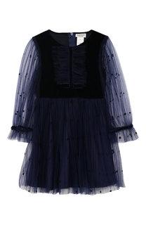 Платье с прозрачной отделкой David Charles