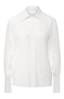 Шелковая блуза с вышитым принтом Chloé
