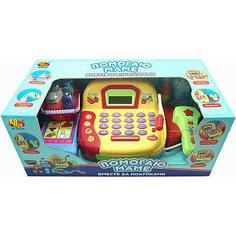 """Игровой набор ABtoys """"Помогаю Маме"""" Касса с продуктами, со звуком, 22 предмета"""