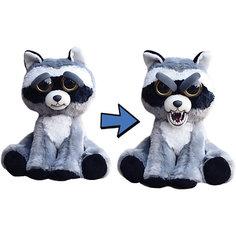 Мягкая игрушка FeistyPets Енот, серый, 22 см