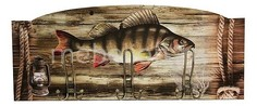 Настенная вешалка (60х25 см) Рыба S26 Акита