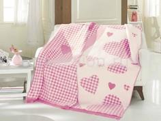 Плед полутораспальный Candy розовый F0089860 Arya
