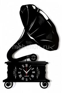 Настенные часы (53.4х80 см) GRAMOPHONE 04007bk0 Silver Smith