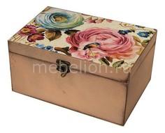 Шкатулка декоративная (26х18х11.5 см) Цветы 1725-13 Акита