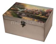 Шкатулка декоративная (26х18х11.5 см) Сказочный пейзаж 1725-15 Акита