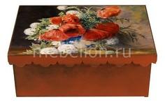 Шкатулка декоративная (26х18х13 см) Маки 1826-16 Акита