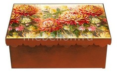Шкатулка декоративная (26х18х13 см) Хризантема 1826-5 Акита