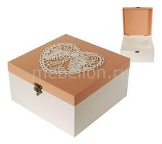 Шкатулка декоративная (24х24х13 см) Сердце 1012-1 Акита