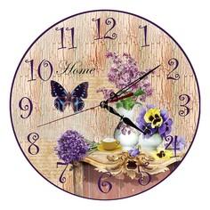 Настенные часы (30 см) Сирень C36 Акита