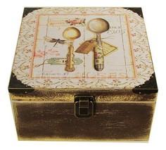 Шкатулка декоративная (24х24х13 см) Прованс 1012-16 Акита