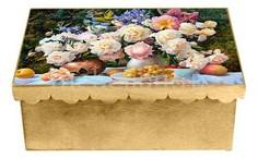 Шкатулка декоративная (26х18х13 см) Пионы 1826-9-1 Акита