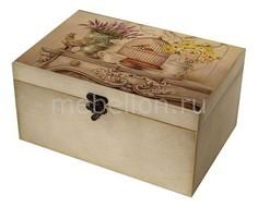Шкатулка декоративная (26х18х11.5 см) Клетка 1725-32W Акита