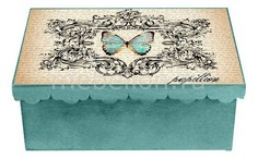 Шкатулка декоративная (26х18х13 см) Бабочка 1826-10 Акита