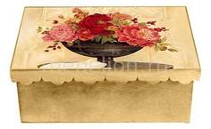 Шкатулка декоративная (26х18х13 см) Пионы 1826-1 Акита