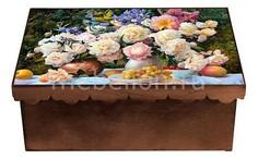 Шкатулка декоративная (26х18х13 см) Пионы 1826-9 Акита