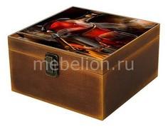 Шкатулка декоративная (24х24х13 см) Вино 1012-5 Акита