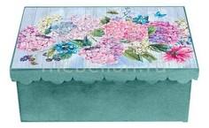 Шкатулка декоративная (26х18х13 см) Гортензия 1826-4 Акита