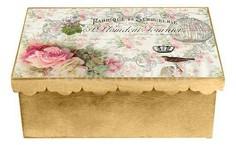 Шкатулка декоративная (26х18х13 см) Розы 1826-3 Акита