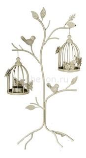 Подсвечник декоративный (48 см) Клетка с птичкой 16378 Акита