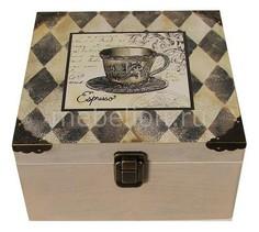 Шкатулка декоративная (24х24х13 см) Espresso 1012-14 Акита