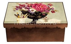 Шкатулка декоративная (26х18х13 см) Пионы 1826-8 Акита
