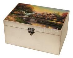 Шкатулка декоративная (26х18х11.5 см) Сказочный пейзаж 1725-15W Акита