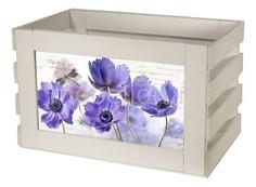 Ящик декоративный Сиреневые цветы 817 Акита