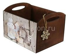 Ящик декоративный Новогодний N-78-5 Акита
