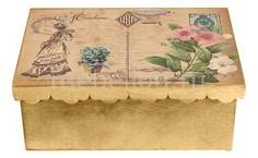Шкатулка декоративная (26х18х13 см) Дама 1826-15 Акита