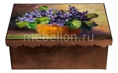 Шкатулка декоративная (26х18х13 см) Фиалка 1826-7 Акита