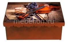 Шкатулка декоративная (26х18х13 см) Скрипка 1826-17 Акита