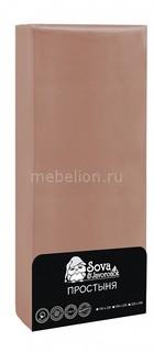 Простыня (145х220 см) Premium Сова и Жаворонок
