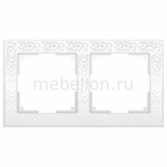 Рамка на 2 поста Flock WL05-Frame-02-white Werkel