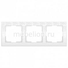 Рамка на 3 поста Flock WL05-Frame-03-white Werkel