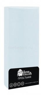Простыня (195х220 см) Premium Сова и Жаворонок