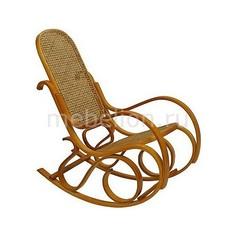Кресло-качалка 1807 L дуб светлый/коричневый Петроторг