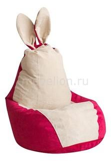 Кресло-мешок Зайчик Крем-Малина Dreambag